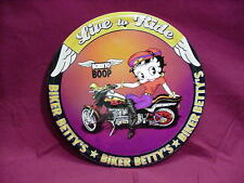 Betty Boop Tin Sign Live To Ride Born To Boop Design
