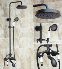 Oil Rubbed Bronze Rainrall Shower Faucet Set Tub Mixer Tap W/ Hand Shower 8rg138