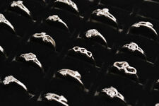 Wholesale Lots 10pcs Mixed Styles Exquisite Silver Plated Kid/Girl's Rings FREE
