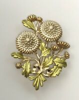 Unique bouquet Of flowers Brooch Pin enamel On metal