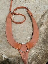 New Rough out Leather Pulling Breast Collar. Amish Made, Horse Tack