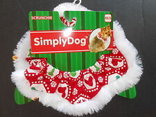 Simply Dog Christmas scruchie elastic collar  XS/S size NWT