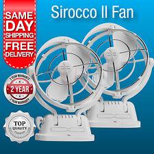 2 x Sirocco II Fans Caframo 12 Volt White Caravan RV Fan Ultra Quiet 3 Speed NEW