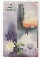M Morris Happy Christmas 8602 Tuck Oilette Greetings Art Postcard US120