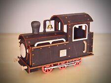 Räucher Lok Dampflok Eisenbahn aus Holz rauchend Original Erzgebirge 18 cm 40752