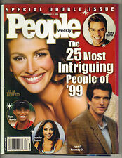 JULIA ROBERTS People Magazine 12/31/99 INTRIGUING RICKY MARTIN JOHN F KENNEDY JR