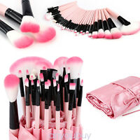 1/32pcs Professional Make-up Eyebrow Shadow Makeup Brush Set Kit Case Pouch