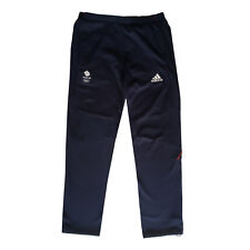 ADIDAS TEAM GB ISSUE RIO OLYMPICS 2016 ELITE ATHLETE BLUE SWEAT PANTS Size 38""