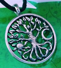 Celtic TREE of LIFE Sun Moon Pewter Pendant Amulet necklace  - FREE USA SHIPPING