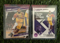 LEBRON JAMES 2 Card Lot LAKERS 2019-20 PANINI CHRONICLES $$HOT$$