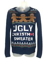 Love by Design Ugly Christmas Sweater Women's Angry Gingerbread Man Size XS