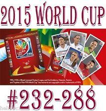 #232 to 288 Panini Womens 2015 World Cup - ECUADOR / USA / AUSTRALIA