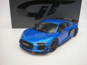 Audi R8 R 8 Performance Partes 2018 Azul Metálico 1/18 GT Spirit GT254 Nuevo