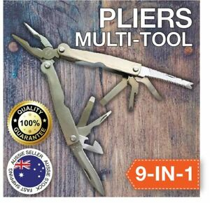 9-IN-1 Long Nose Pliers Compact Outdoor Camping Tools Stainless Steel SHIPS FREE
