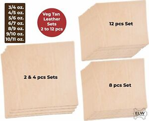 Veg Tan Cowhide Tooling Leather 3-11oz (1-4.8mm) Pre-Cut Special Bundle Sets