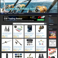 Deep Sea Outdoor Fishing STORE - Work From Home Online Business Website For Sale