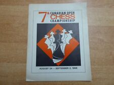 7th Canadian Open Chess Championship Toronto 1968 Programmheft