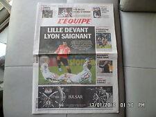 L'EQUIPE DU 22/11/2010 Lyon OL Lille LOSC Iverson Eto'o J55