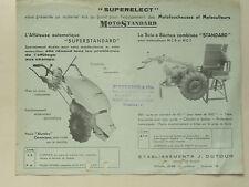 Prospectus  Motoculteur MOTOSTANDARD Scie  non daté  brochure catalogue tracteur