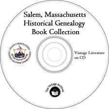 Salem, Massachusetts Historical Genealogy Vintage Book Collection on CD