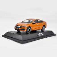1/43 HONDA Civic 10th Generation Orange 2016 Diecast Model