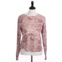 Gramicci Shirt Medium Long Sleeve Floral Ring Spun Cotton Tee Tie Dye Look B88