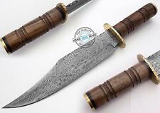 "15.00"" Custom Made Beautiful Damascus Steel Bowie Hunting Knife  (835)"