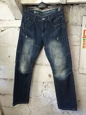 Men'S Cross Hatch Jeans Denim Blu Urban Classic Uomo Stile 32/32 (1058)