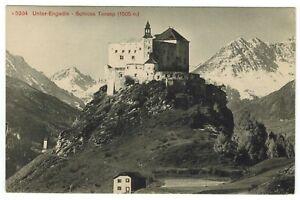 Castle of Tarasp Lower Engadin Graubünden Switzerland Mountains Vintage Postcard