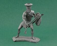 Tin toy soldier Philistine warrior 12 cen BC. Metall sculpture 54 mm