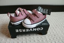 Toddler Girls' size 7 Converse Chuck Taylor All Star Pink Shimmer Sneakers $40