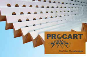 0.5 x 10m Spray Booth Concertina Pleated Cardboard Paint Filter - Quantity 1