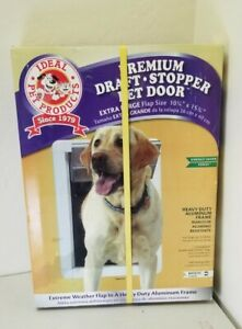 """Ideal Pet Products Premium Draft-Stopper Pet Door Extra Large White 2.5"""" x 13.75"""