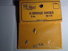 MICRO ENGINEERING #80-178 N SCALE BRIDGE SHOES 8 EACH BIGDISCOUNTTRAINS