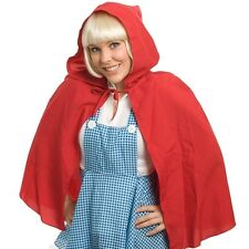 New Red Riding Hood Hooded Cape Adult or Child Costume Fancy Dress Halloween