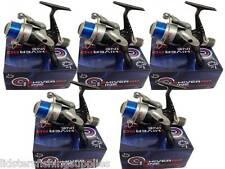 5 NEW SHIVER MATCH COURSE FISHING REELS WITH LINE