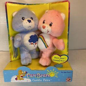 Care Bears Cuddle Pairs Cheer & Grumpy Bear New in Box 2002