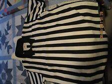 Referee Umpire Shirt Black White Short Sleeve 1/4 Zip men's XL 46-48 &  pants