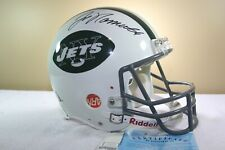 NEW YORK JETS signed JOE NAMATH game style Vintage Riddell Football Helmet w/COA