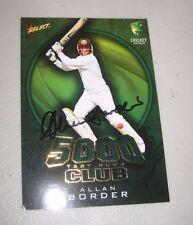Allan Border (Australia) signed 5000 test runs Limited /Ed  Cricket Card + COA