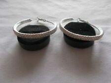Unbranded Cubic Zirconia Silver Plated Hoop Fashion Earrings