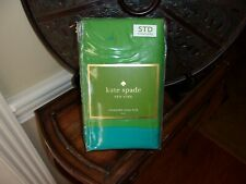 NIP Kate Spade Bow Green/Turquoise Quilted Standard Shams Pair