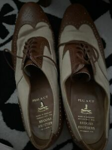 brooks brothers mens 2 tone shoes peal and company made in england