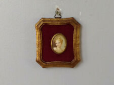 Antique Miniature Framed Painting Victorian Style With Signature
