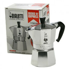 bialetti 9 cup moka express coffee maker (italy) +extra rubber ring gasket