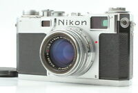 【N MINT++ Body & EXC+6 Lens】 NIKON S2 Rangefinder w/ H C 5cm 50mm f/2 Japan #668