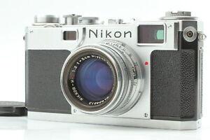 【N MINT++ Body & EXC+6 Lens】 NIKON S2 Rangefinder w/ H C 5cm 50mm f/2 Japan #668