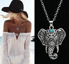 Elephant Connector Charm Antique Silver Charm Pendant Necklace