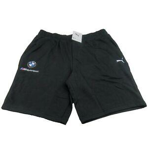 Puma BMW M Motorsport Essential Sweat Shorts Black Size XL Mens NEW 599532-01