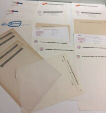 Vtg Railroad Paper Letterhead Stationary Forms Variety Lot of 20 Sheets RR Train